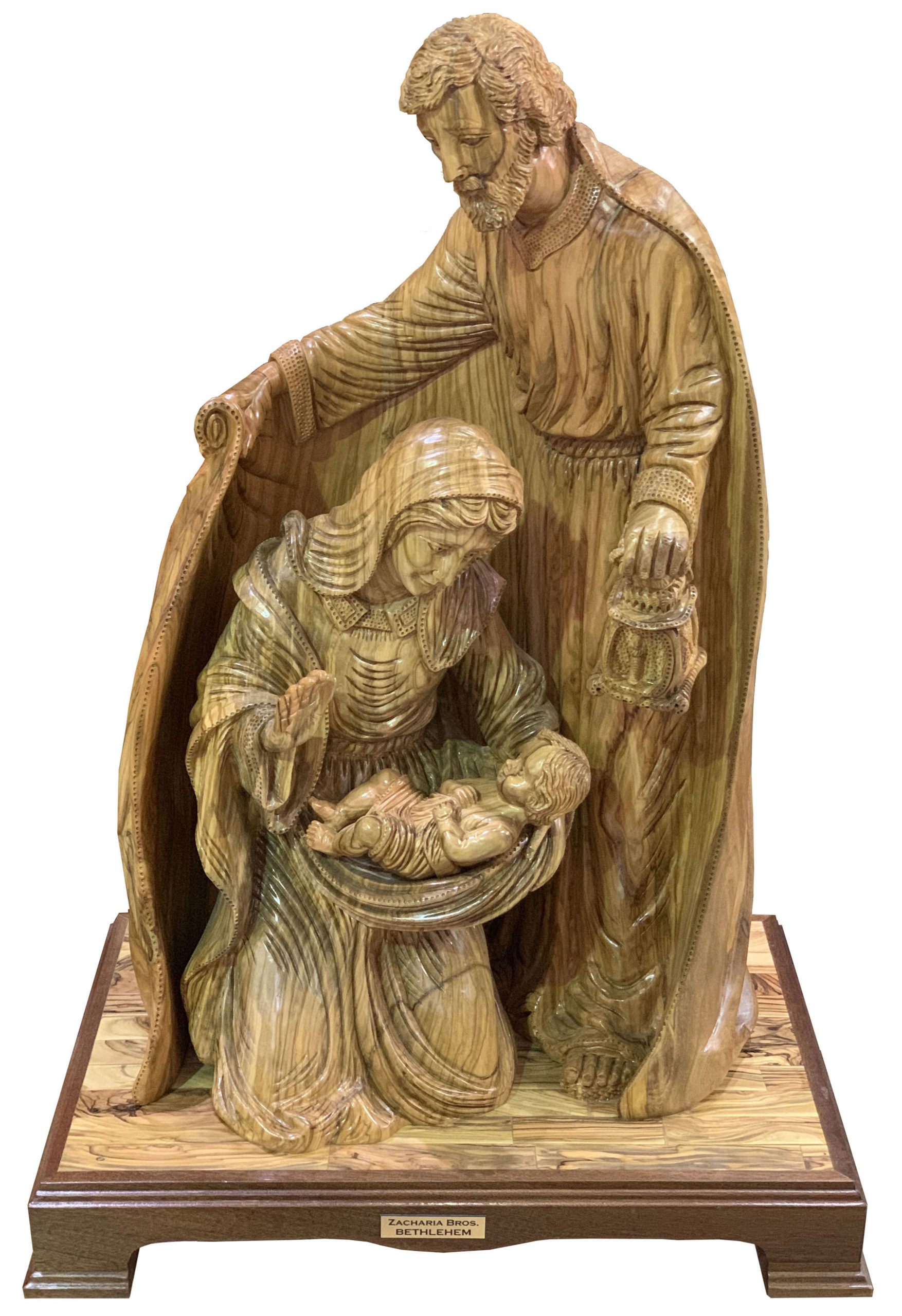 Hand Made Olive Wood Holy Family